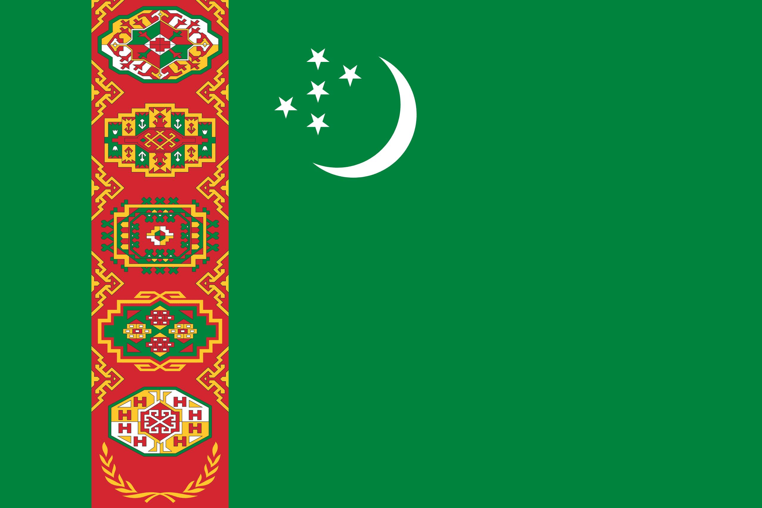türkmenistan bayrağı ile ilgili görsel sonucu